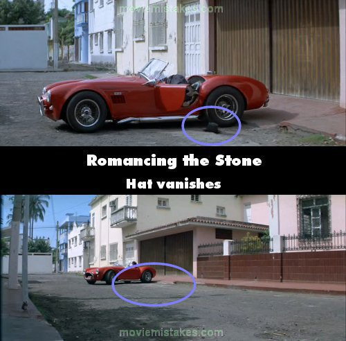 Romancing the Stone mistake picture