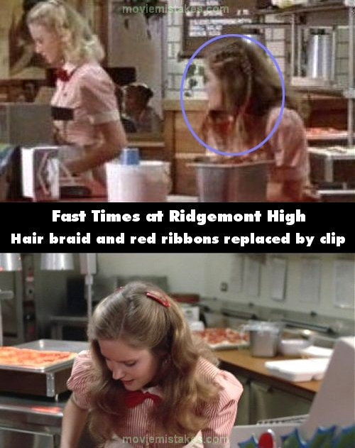 Fast Times at Ridgemont High mistake picture