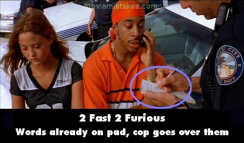 2 Fast 2 Furious mistake picture