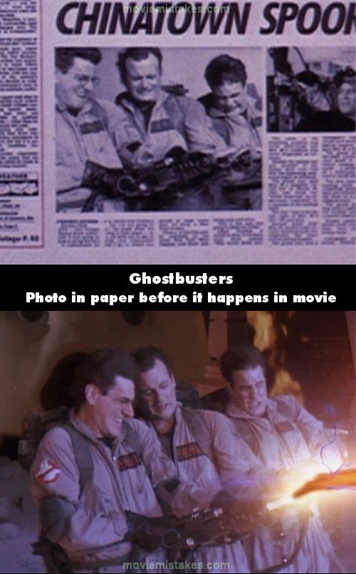Ghostbusters mistake picture
