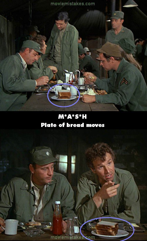 M*A*S*H mistake picture