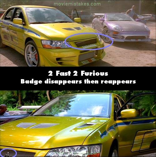 2 Fast 2 Furious (2003) Movie Mistake Picture (ID 40606
