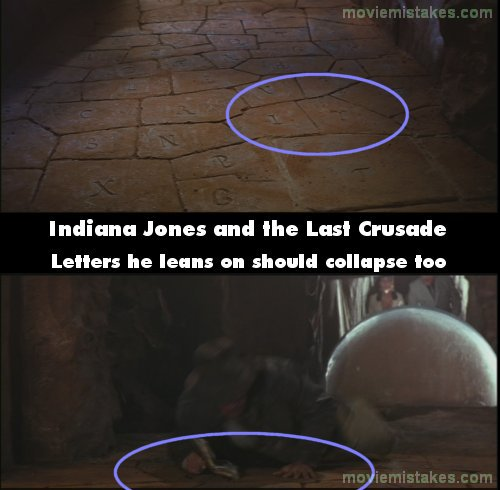 Indiana Jones and The Last Crusade mistake picture