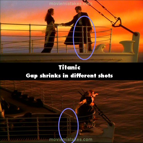 15 biggest mistakes in Titanic
