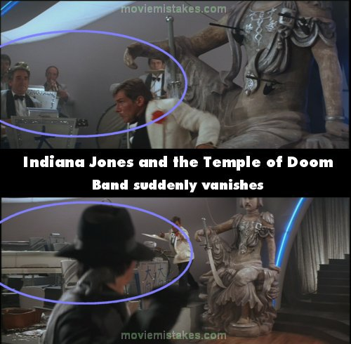 Indiana Jones and the Temple of Doom mistake picture