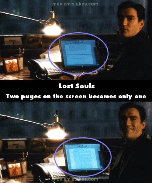 Lost Souls mistake picture