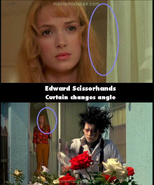 Edward Scissorhands 1990 Movie Mistakes Goofs And Bloopers