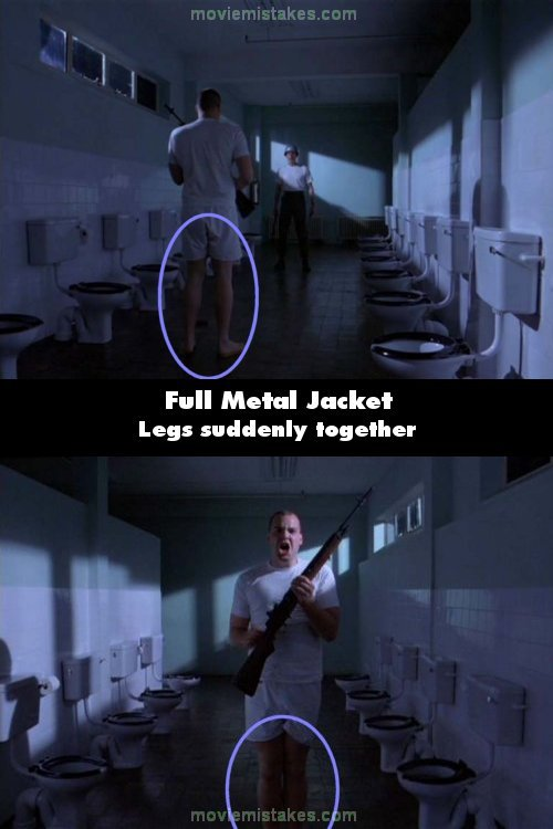 Full Metal Jacket 1987 Movie Mistake Picture Id 51485