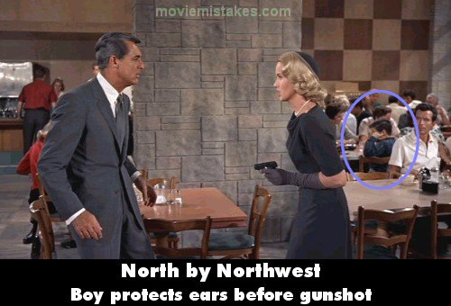 North by Northwest mistake picture