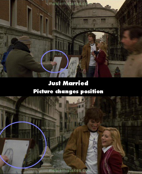Just Married mistake picture