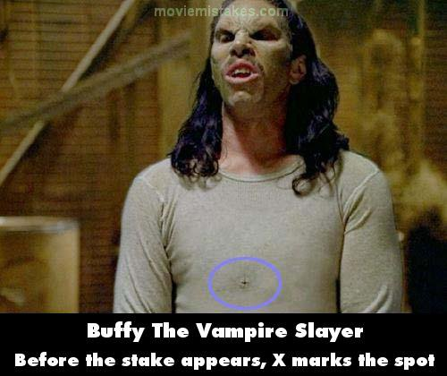 Buffy The Vampire Slayer mistake picture