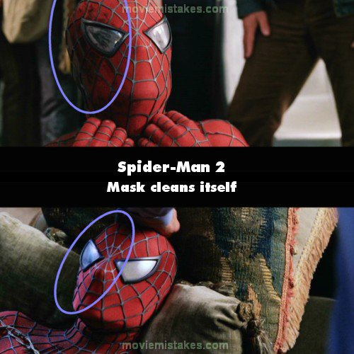 spiderman 2 2004 movie mistakes goofs and bloopers