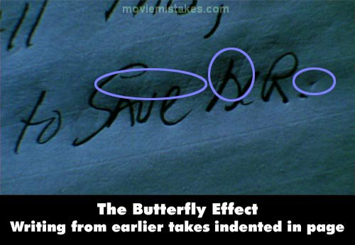 The Butterfly Effect mistake picture