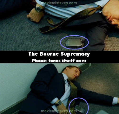 The Bourne Supremacy mistake picture