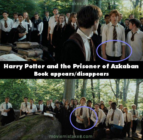 Harry Potter Book Mistakes ~ Harry potter and the prisoner of azkaban movie mistake