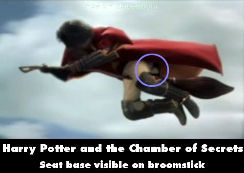 Harry Potter Cameraman : Harry potter and the chamber of secrets movie mistake