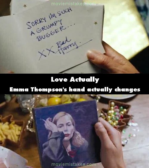 Love Actually mistake picture