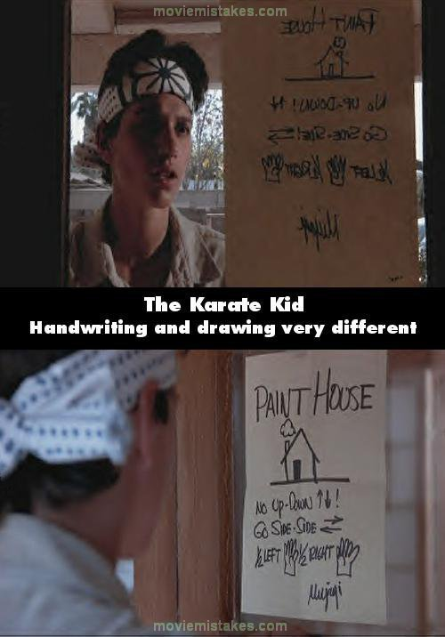 The Karate Kid mistake picture