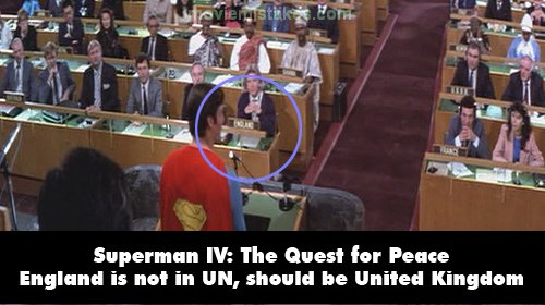 Superman IV: The Quest for Peace mistake picture