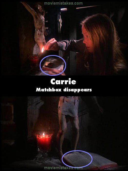 carrie 1976 movie mistake picture id 73456