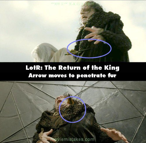 The Lord of the Rings: The Return of the King mistake picture