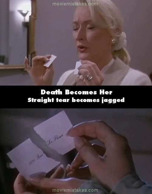 Death Becomes Her mistake picture