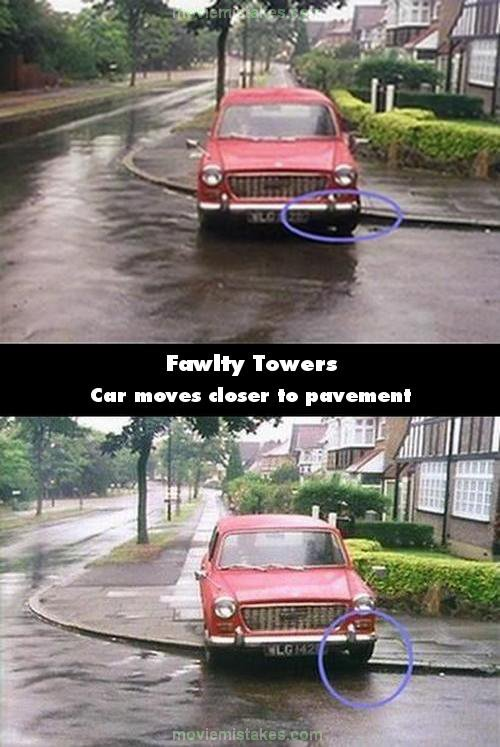 Fawlty Towers mistake picture