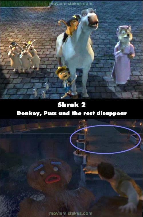 Shrek 2 movie mistake picture 4
