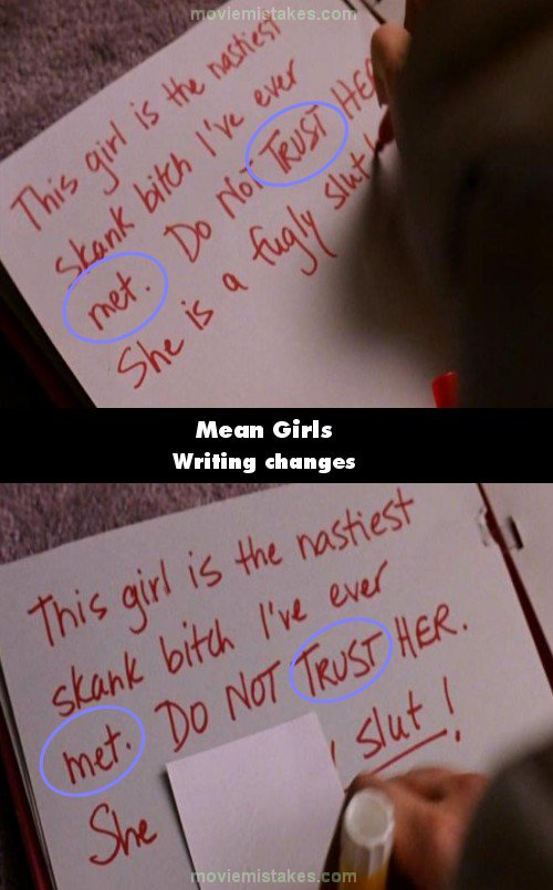 Mean Girls mistake picture