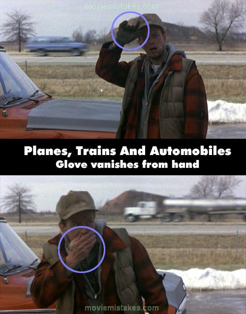 Planes, Trains & Automobiles mistake picture