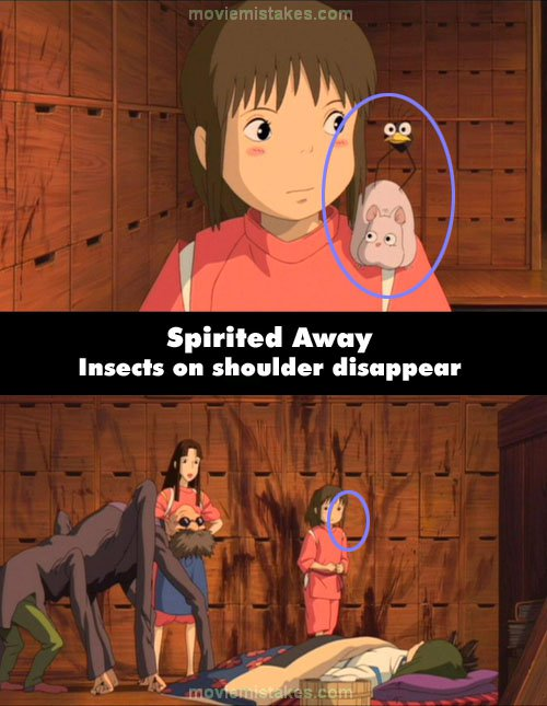 Spirited Away mistake picture