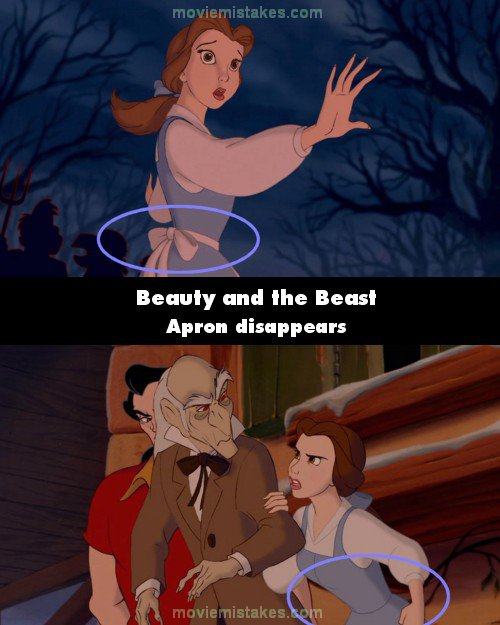 Beauty and the Beast mistake picture