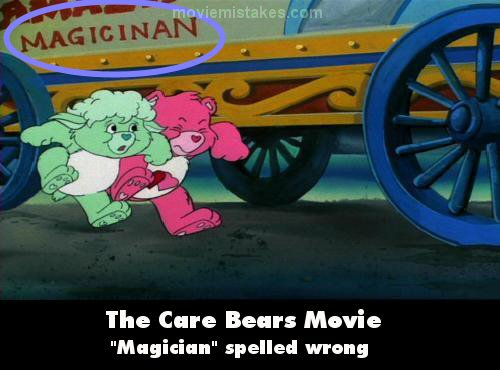 The Care Bears Movie mistake picture