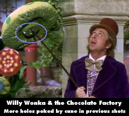 Willy Wonka & the Chocolate Factory mistake picture