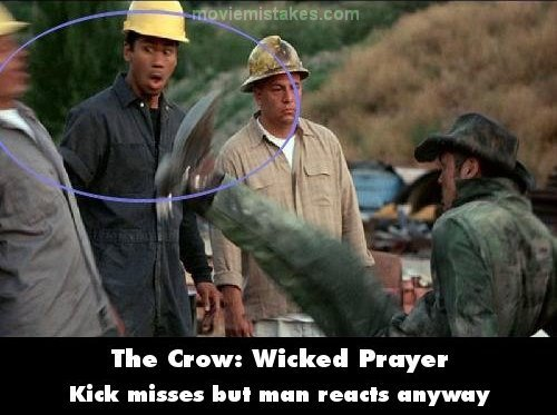 The Crow: Wicked Prayer mistake picture