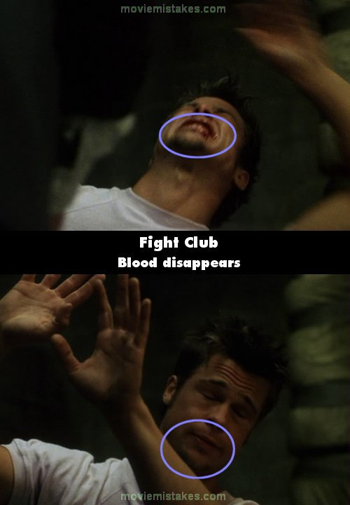Fight Club mistake picture