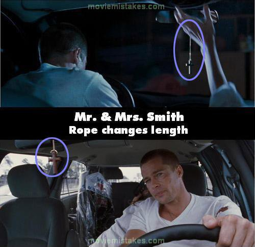 Best Mr And Mrs Questions: Mr. And Mrs. Smith (2005) Movie Mistake Picture (ID 97982