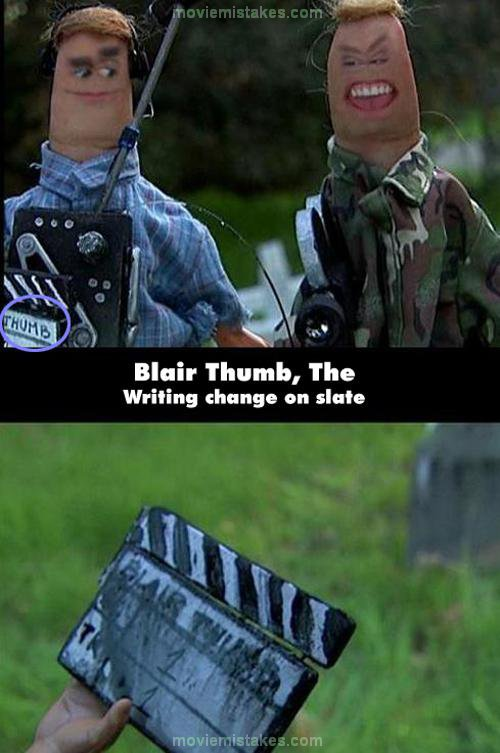 The Blair Thumb mistake picture