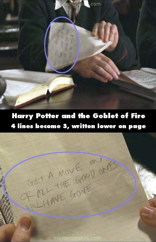 Harry Potter mistake picture