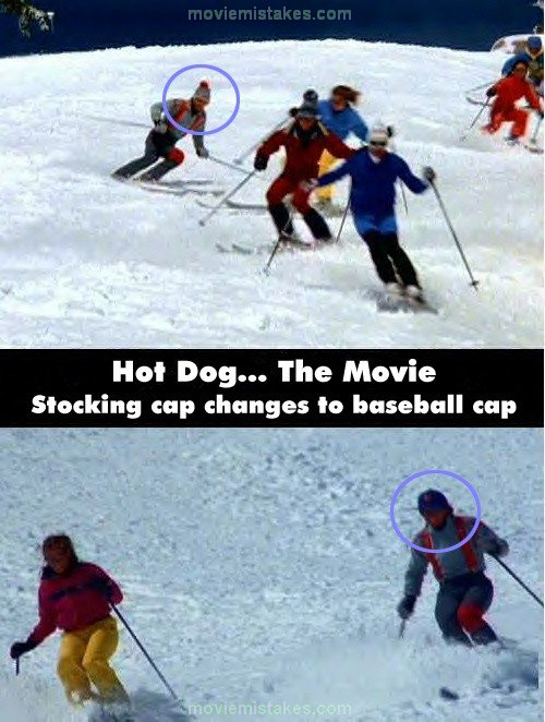Hot Dog... The Movie mistake picture