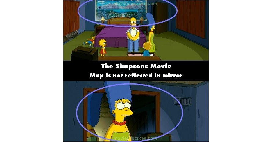 The Simpsons Movie 2007 Movie Mistake Picture Id 126165