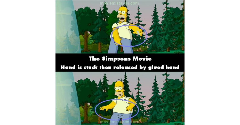 The Simpsons Movie 2007 Movie Mistake Picture Id 126670